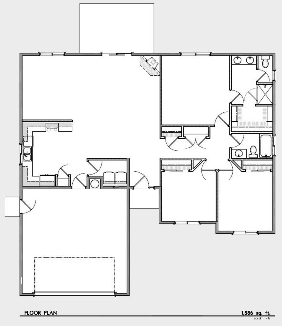 Winston oregon floor plan 1 lookingglass creek estates for Floorplan or floor plan